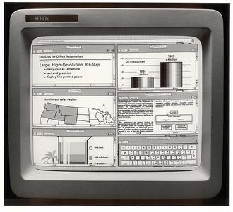 Xerox Star 8010 iş istasyonu (Piyasaya sürülen ilk GUI) - 1981