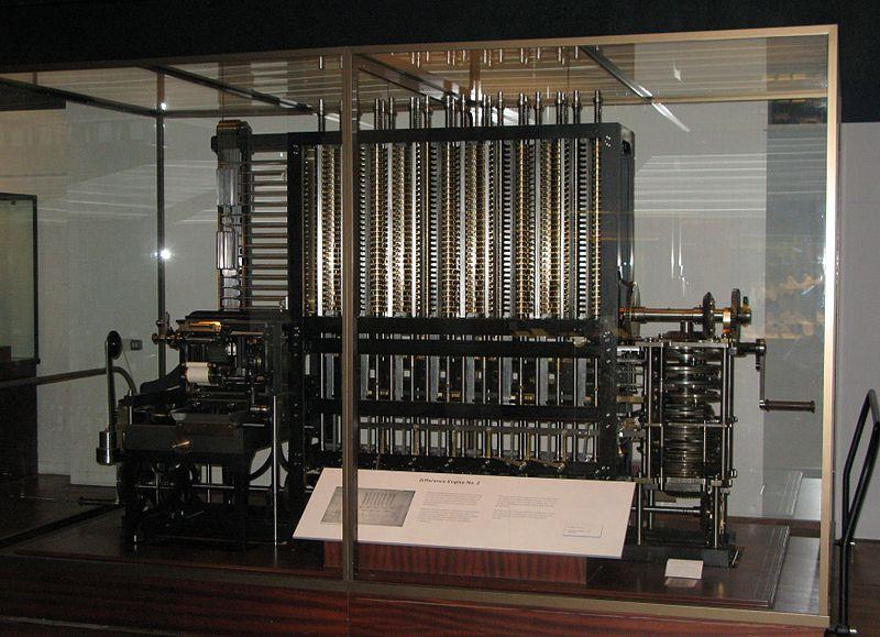 Charles Babbage'ın Fark Makinesi (Londra Bilim Müzesi), https://en.wikipedia.org/wiki/File:Babbage_Difference_Engine.jpg
