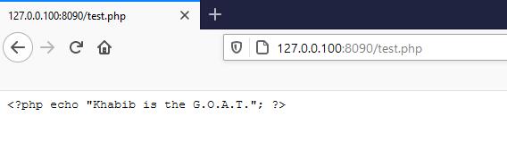PHP yorumlayıcısı çalışmıyor.