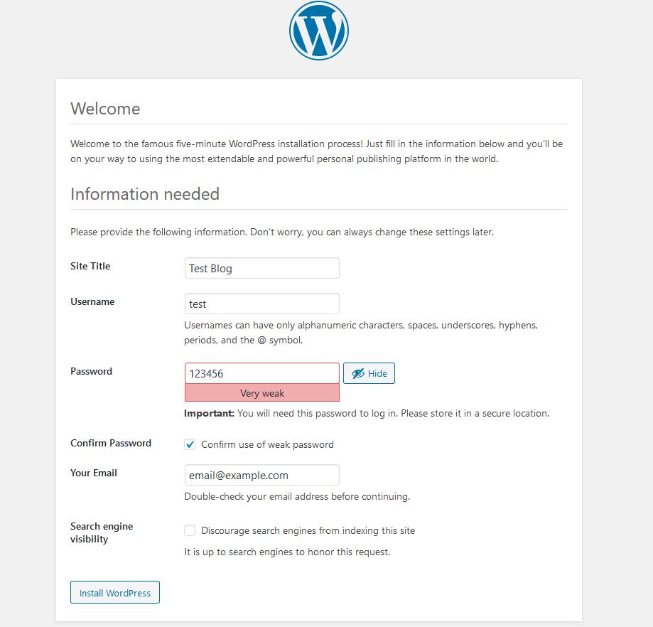 Wordpress ilk ayarlar