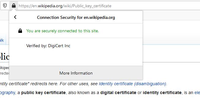 Wikipedia.org DigiCert Inc tarafından doğrulanmış.