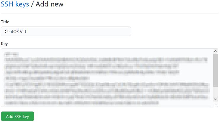 GitHub'a SSH anahtarı ekleme